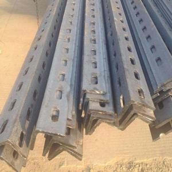 ASTM A36 A572 Gr60 Gr50 Perforated Galvanized Ms L Shaped Steel Bar Slotted Angle Bar #1 image